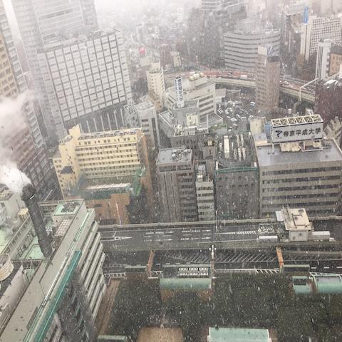 東京、54年ぶりの雪