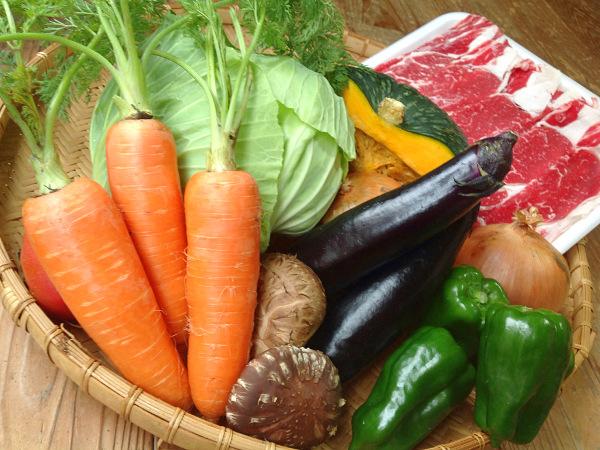 バーベキューセットの野菜