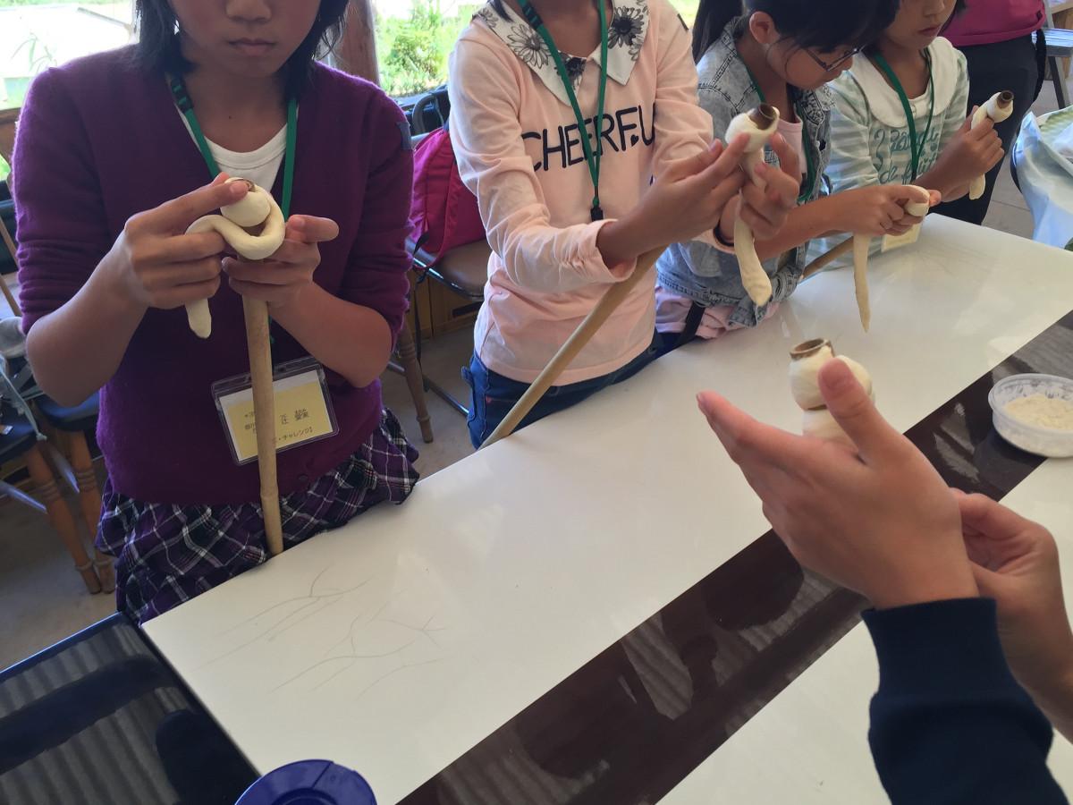 竹巻パン作り